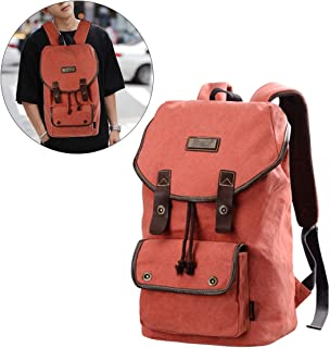 JOSEKO Vintage Canvas Daypack, Large Men Travel Backpack Casual School Laptop Rucksack for Women Teens