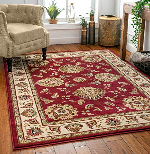 Well Woven Timeless Abbasi Traditional Persian Oriental Red Area Rug 6'7' x 9'3'