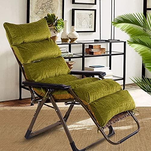 erddcbb Sonnenliege Kissen Kissen, Garden Patio Liegestuhl Stuhlpolster Recliner Relaxer Stuhl Kissen Abnehmbarer Cord Sitzbezug-grün 165X57cm (65x22in)