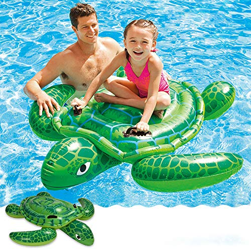 Tieesa Inflatable Sea Turtle RideOn Fun Summer Large Pool Floats Inflatable Pool Float Raft Swimming Pool Toy Adults amp Children for Water Activities 75quot x 67quot