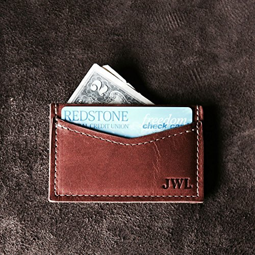 The Vernon Fine Leather Front Pocket Card Holder Wallet - Personalized - http://coolthings.us