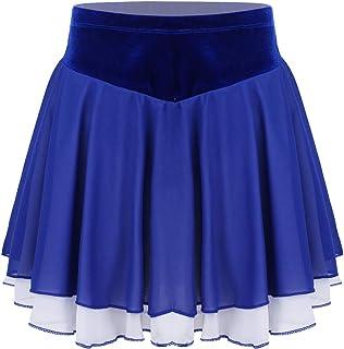 ranrann Femme Fille Jupe Patinage Artistique Jupe de Danse Sport avec Culotte Mini Jupe Courte Ecoliere Jupe Pliss/ée Yoga Gym Tennis Dancewear Costume Performance S-L