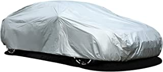 Car Cover for Sedan, Ohuhu Universal Sedan Car Covers Windproof Dustproof Scratch Resistant Outdoor UV Protection Auto Cover L (191