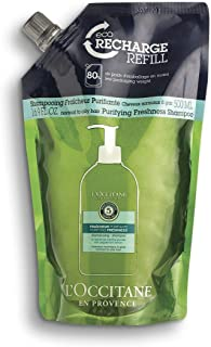 L'Occitane Aromachologie Purifying Freshness Shampoo Refill Enriched with 5 Essential Oils for Normal to Oily Hair, 16.9 fl. oz.