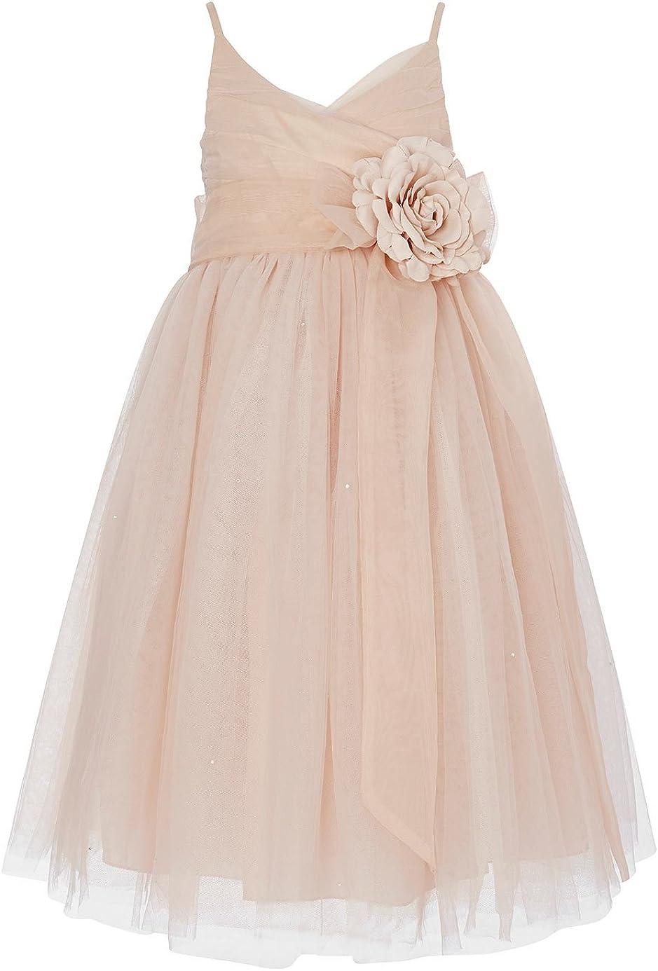 princhar Tulle Flower Girl Dress Junior Bridesmaids Dress Little Girl Toddler Dress