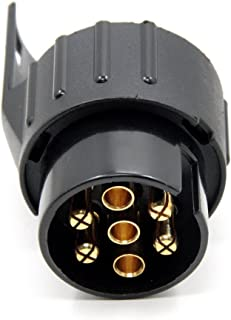 12 V Adaptador de remolque de 13 polos a 7 polos TedGem Adaptador de Remolque de 13 a 7 pines para coches y remolques