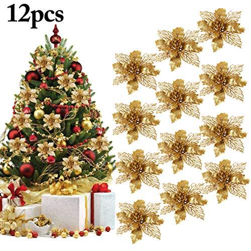 Outgeek Flores para Navidad, 12 Piezas 5.91