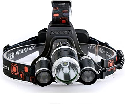 LED Headlight 10000lm Rechargeable High Power Head Lamp Ligh 20W T6+2R5 white light head