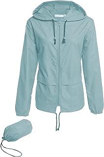 Women's Lightweight Hooded Raincoat Waterproof Packable Active Outdoor Rain Jacket