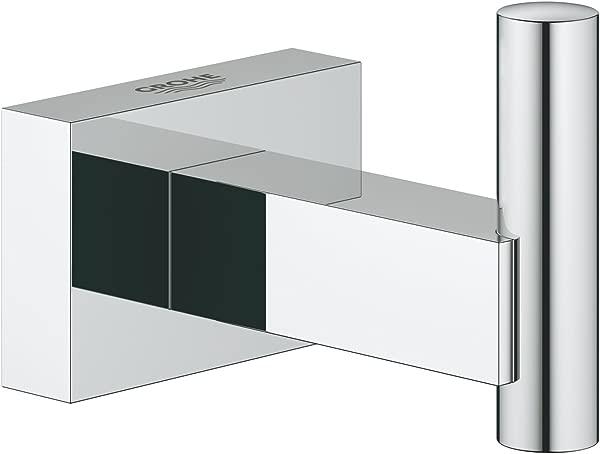 GROHE 40511001 Essentials Cube Robe Hook Starlight Chrome
