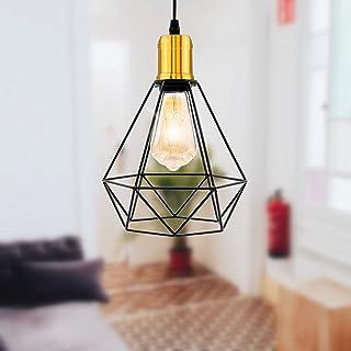 Przemysłowa lampa sufitowa vintage podtynkowa wisząca lampa wisząca oprawa oświetleniowa czarny obraz wykończenie metalowa...