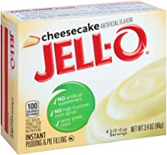 JELLO Instant Cheesecake Pudding Mix (3.4oz Boxes, Pack of 6)