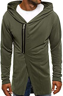 Mens Jackets, Autumn Winter Casual Zipper Long Sleeve Pullover Sweatshirt Hoodie Coat Top