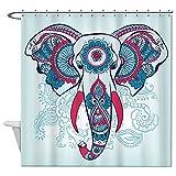 rioengnakg indischen Dekorative Elefant auf die Henna indische Ornamente Wasserdicht Polyester Duschvorhang Liner, Polyester, #1, 72