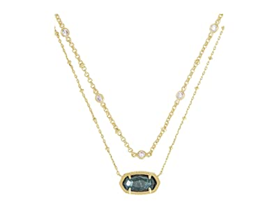 Kendra Scott Elisa Multi Strand Necklace (Green Apatite) Necklace
