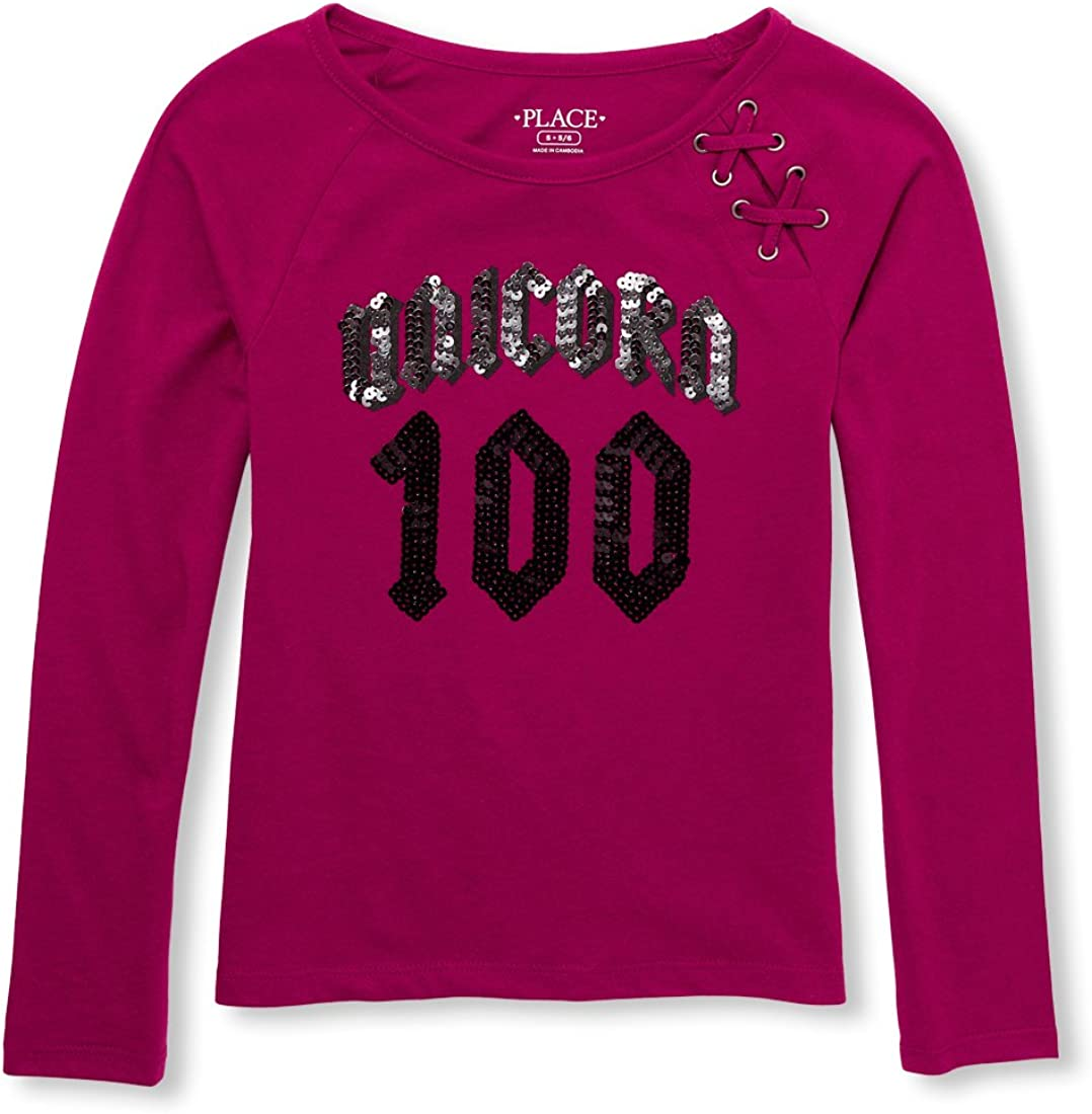 Boston Mall The Children's Place Big Girls' National products Graphic Laceup Knit