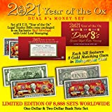 2021 CNY Year of The OX Dual 8's Chinese New Year Official Currency US Bill Set
