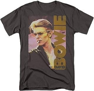 Popfunk David Bowie Smoking Retro Music Legend T Shirt & Stickers