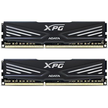 ADATA XPG V1 DDR3 1600MHz (PC3 12800) 8GB (4GBx2) Memory Modules, Black (AX3U1600W4G9-DB)