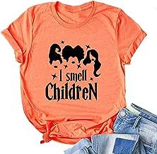 YourTops Women Hocus Pocus T-Shirt I Smell Children Shirt