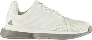 Official Brand Adidas CourtJam Bounce Womens Tennis Shoes Trainers White/Grey Ladies Sports