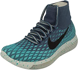Nike Women's WMNS Lunarepic Flyknit Shield, Black/Metallic Silver-Dark Grey-Stealth