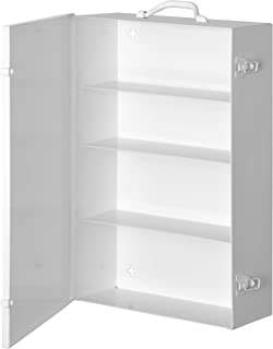 Durham 535-43 White Cold-Rolled Steel 11FX Industrial Empty First Aid Cabinet, 15