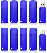 KEXIN Flash Drive 32gb 10 Pack USB 2.0 Flash Drive Thumb Drive Pack Design in Snapcap Blue