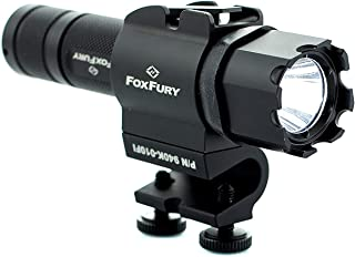 FoxFury 940K-010FI Fire and Impact Resistant Waterproof Side-Mounted LED Helmet Light and Flashlight, 200 Lumens, Black