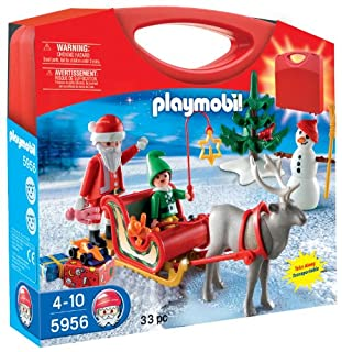 PLAYMOBIL -  Maletín con diseño Trineo de papá Noel , Playsets de Figuras de Juguete, 25 x 5 x 21 cm, (5956) (B005HIQDU6) | Amazon price tracker / tracking, Amazon price history charts, Amazon price watches, Amazon price drop alerts