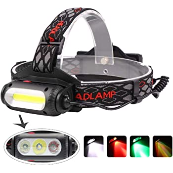 Red And White Dual Light Source LED Headlamp Outdoor Lighting Lamp New