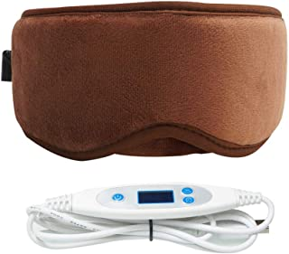 ARRIS Electric USB Heated Eye Mask with 5 Temperature Control Warm Therapeutic Treatment for Relieving Insomnia, Dry Eye, Blepharitis, Meibomian Gland Disease Brown