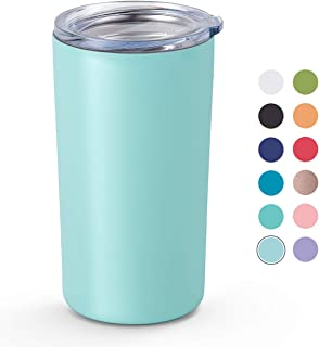 Maars Skinny Mini Stainless Steel Insulated Kid's Tumbler with Lid, 12 oz Double Wall for Coffee, Tea, Juice - Matte Black Cup | Travel Friendly, Compact Size