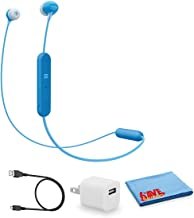 Sony WI-C300 Wireless Bluetooth in-Ear Headphones -Blue - Kit with USB Adapter