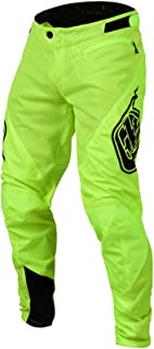 Sprint Solid Youth Off-Road BMX Cycling Pants - Flo Yellow / 28