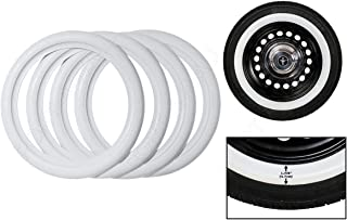 Whitewall Tires Topper 4X 14 Wheel White Wall Port-O-Wall Rubber Classic Style