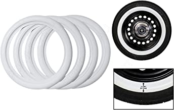 for R14 Tires Old School Hot Rod Classic Style White Walls 4 pcs .PORTAWALL
