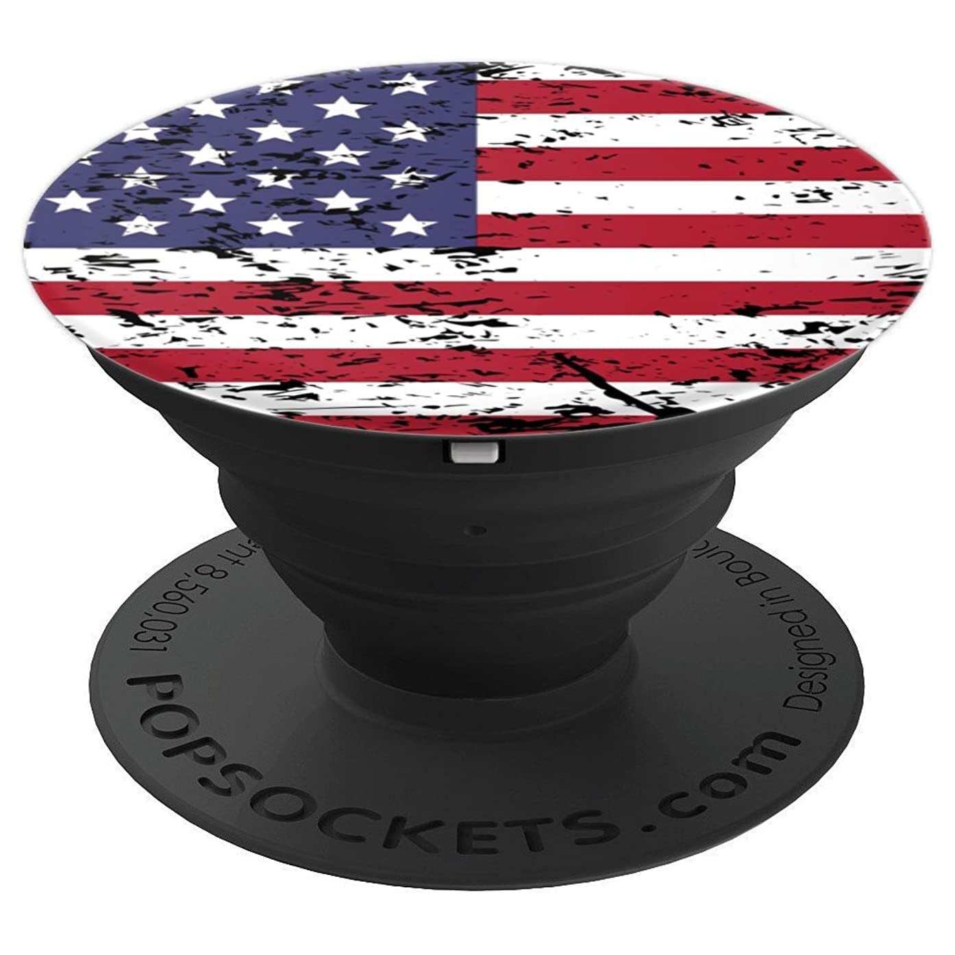 US Flag Patriot Vintage American 4th July - PopSockets Grip and Stand for Phones and Tablets
