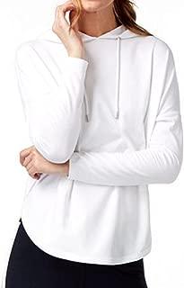 Michael Michael Kors Women's High-Low Pullover Hoodie (Medium, White)