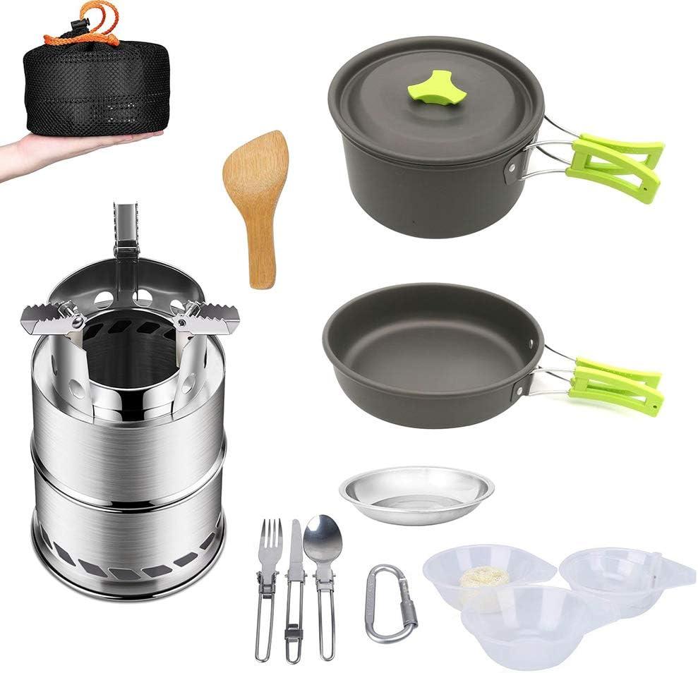 GJG Kit De Utensilios De Cocina, Estufa De Camping Al Aire ...