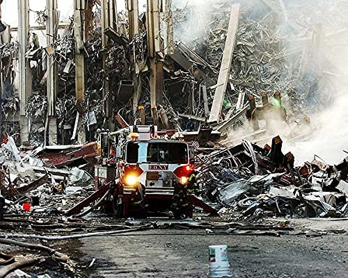 9 11 FDNY Fire Milwaukee Mall Engine at WTC 11x14 Zero Pho Halide Silver Special Campaign Ground