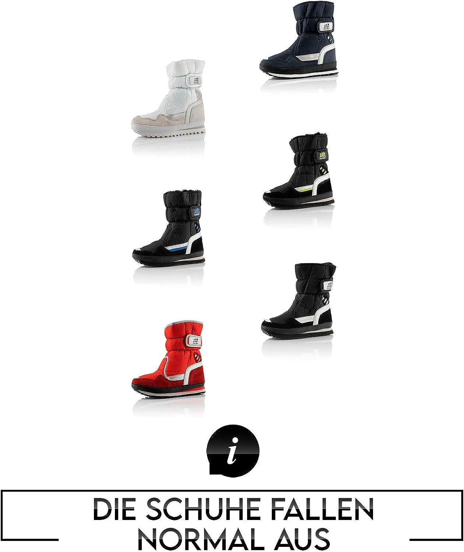 Fusskleidung/® Damen Herren Kinder Winterschuhe Wasserfeste Schneestiefel Warm Gef/ütterte Stiefel