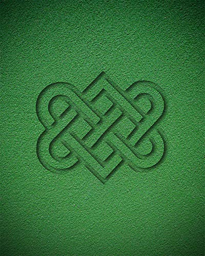 Celtic Love Knot - Wall Decor Art Print on a green background - 8x10 unframed Celtic-themed print - great gift for people of Celtic descent or those interested in the culture