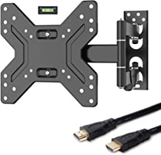 Fleximounts TV Wall Mount Bracket 17-42 inch Full Motion Articulating Arms Swivel and Tilt Fit for TV LED LCD Plasma Flat Screen
