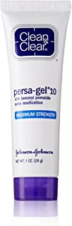 Clean & Clear Persa-Gel 10 Acne Medication Spot Treatment with Maximum Strength 10% Benzoyl Peroxide, Pimple Cream & Acne Gel Medicine for Face Acne with Benzoyl Peroxide Medication, 1 oz (Pack of 3)