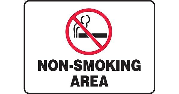 7 x 10 Inches MSMK415XP Accu-Shield AccuformNon-Smoking Area Safety Sign