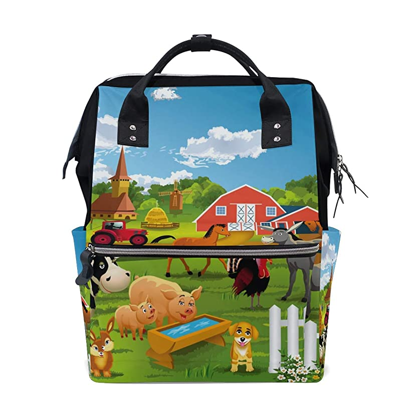Cartoon Farm Animals School Backpack Large Capacity Mummy Bags Laptop Handbag Casual Travel Rucksack Satchel For Women Men Adult Teen Children jxey62954