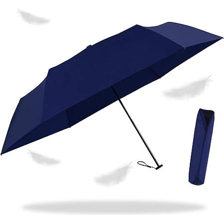 折り畳み傘 全世界で一番軽い92gアルミニウムマグネシウム合金炭素繊維で作成され 晴雨兼用 強風に耐えられ 超撥水 (ブルー,M)