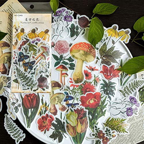 Aolvo Ephemera-Set, Notizsticker im Stil von tropischen Pflanzen