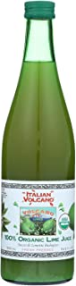 Volcano Bursts Organic Juice - Lime - Fresh Pressed - Vegan - Case of 12 - 16.9 Fl oz